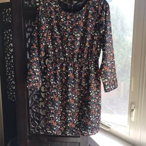 J. Crew Factory Black Floral Dress